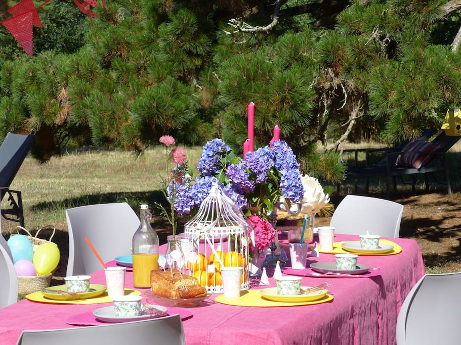 Table du jardin pour vos repas / Enjoy your meal in the garden
