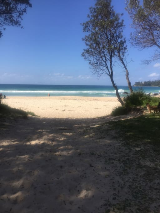 Just walk across the road to pristine Narrawallee beach