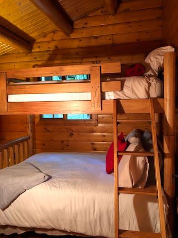 Third bedroom, twin over full bunk