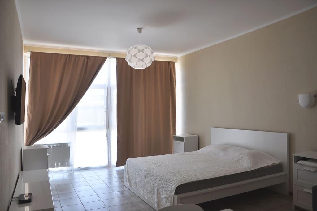 Апартаменты в 20 метрах от Черного моря с видом на море