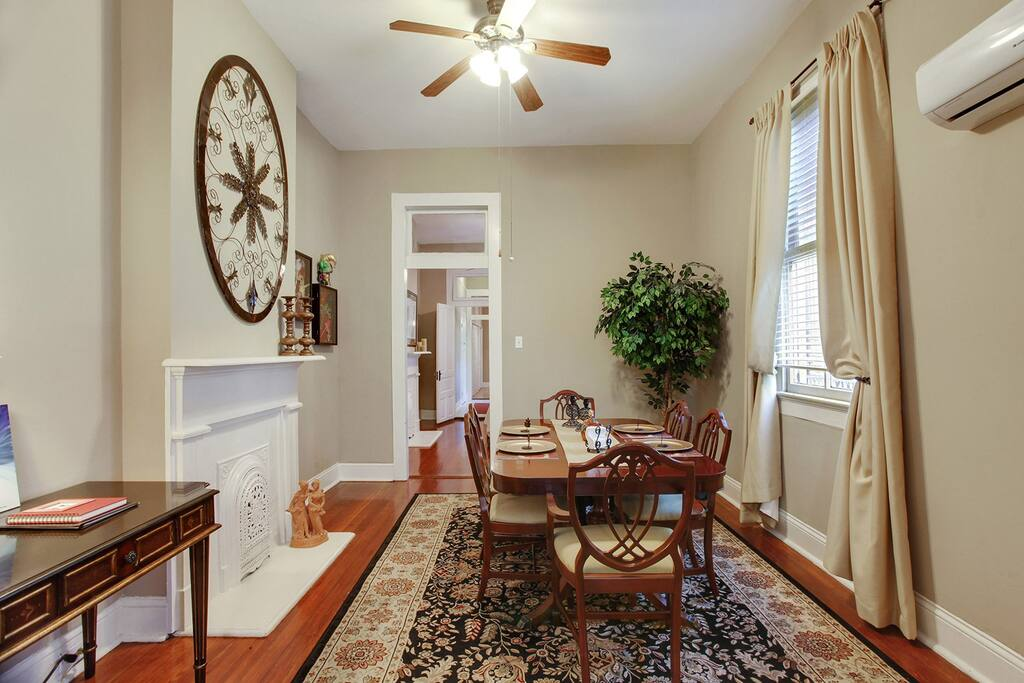 Dining room for gatherings with writing desk