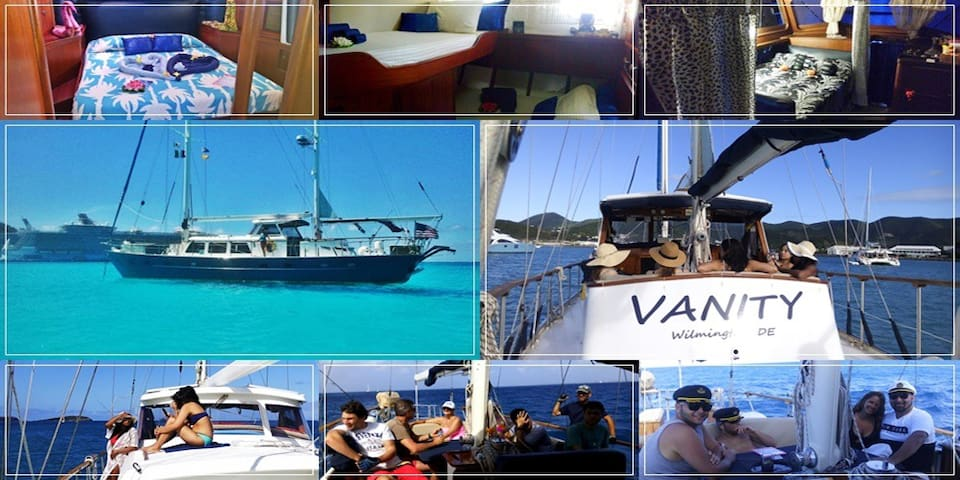 Bed&Breakfast Yacht (check in/out in St. Martin) - Lower South Hill - Barco