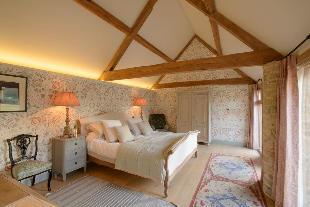 French Room with Super Kingsize double bed.