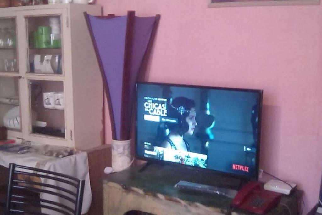 Sala de estar con Tv Pantalla plana y Netflix - WiFi