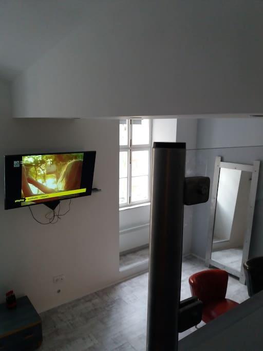 galeriáról nézve a szoba
