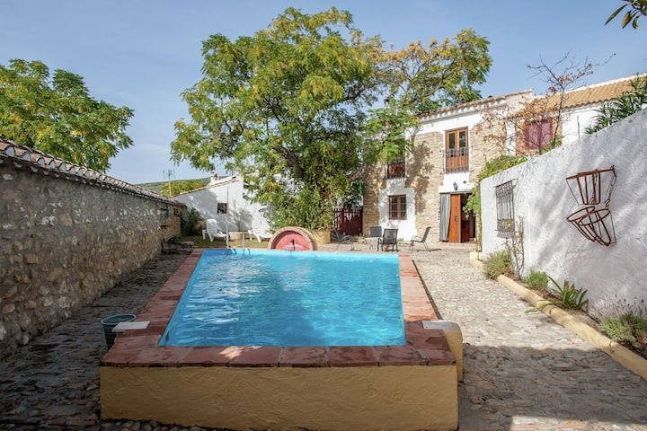 Restored mill with private swimming pool on a property in Algarinejo,  Granada