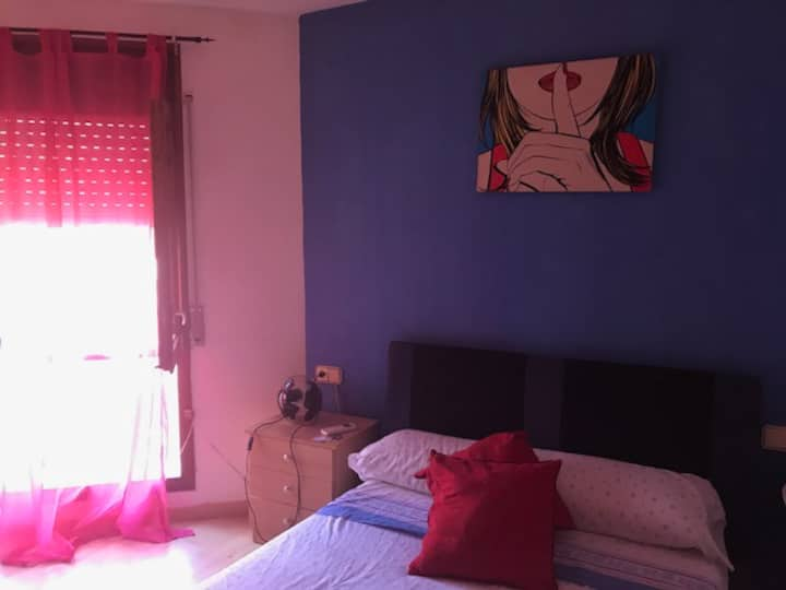 Double room in center of Sitges , with Terrace.