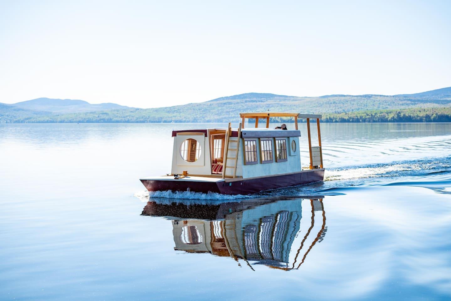 Floating Camp Roam on Rangeley Lake