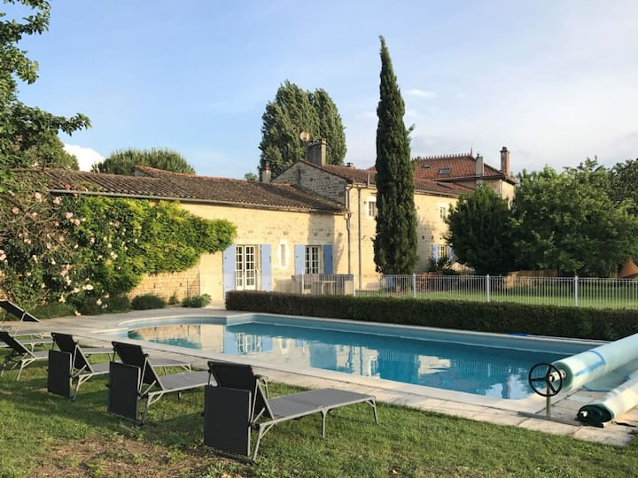 Lovely stone house with large private heated pool