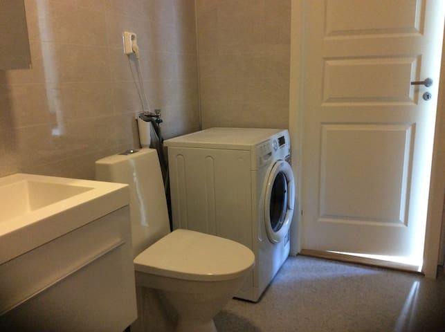 Vaskemaskin på badet