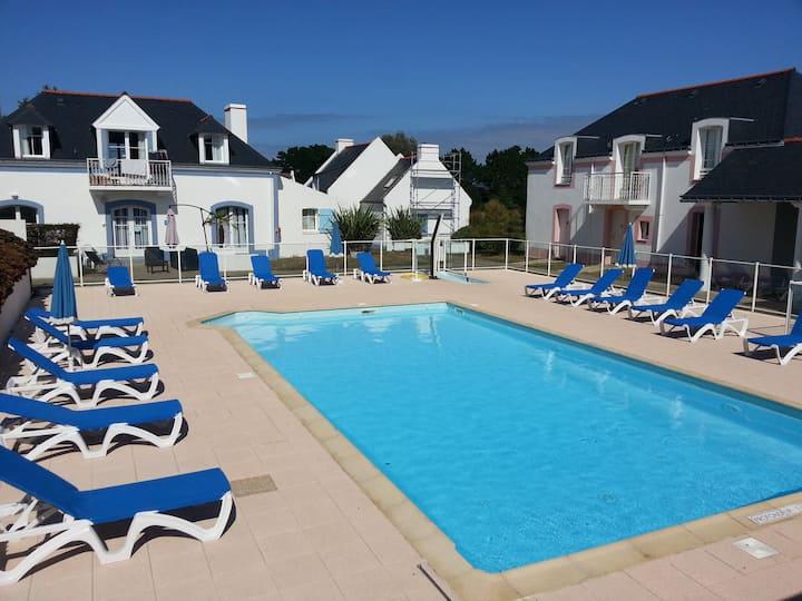 Maison Belle ile en mer avec piscine proche plage