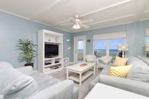 Should you decide to leave the balcony this beach vacation home is clean and comfortable.