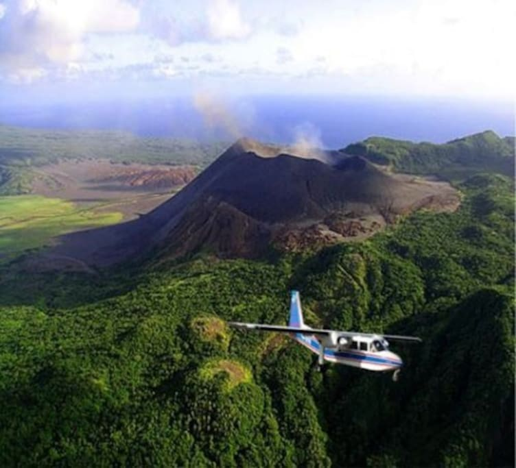 Yasur Volcano from the air.