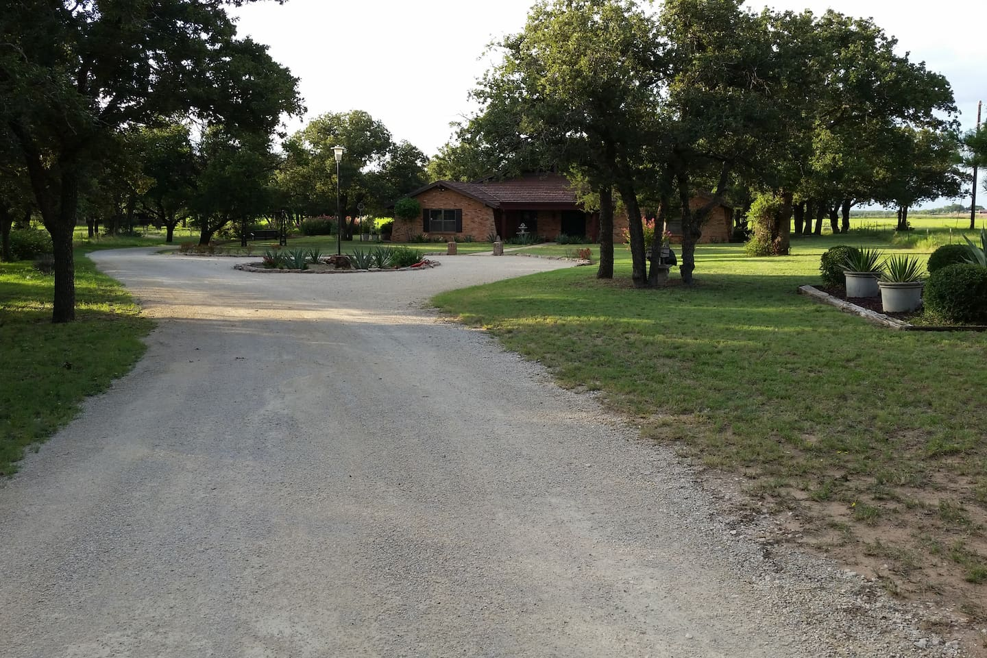 Front drive leading to house.