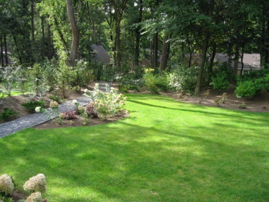 Heerlijke ruime tuin (800m2), veel privacy