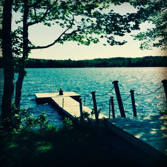 The dock is the perfect place to get a quiet moment to yourself or dive into the water for a refreshing swim