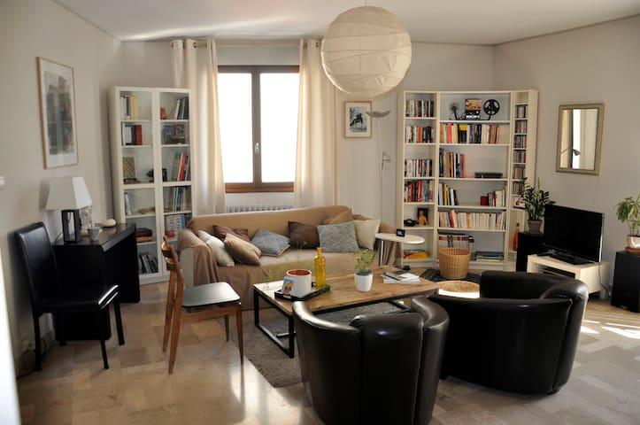 Grand appartement lumineux et chaleureux
