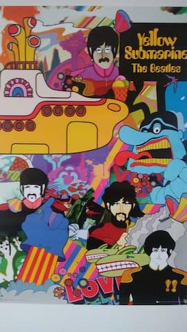 Beatles Decor Bedroom!  Downtown Fort Collins