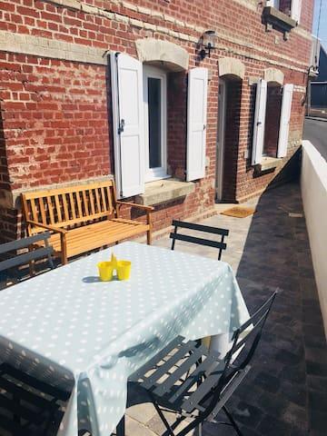 Ault'voltige  Appartement avec terrasse vue mer