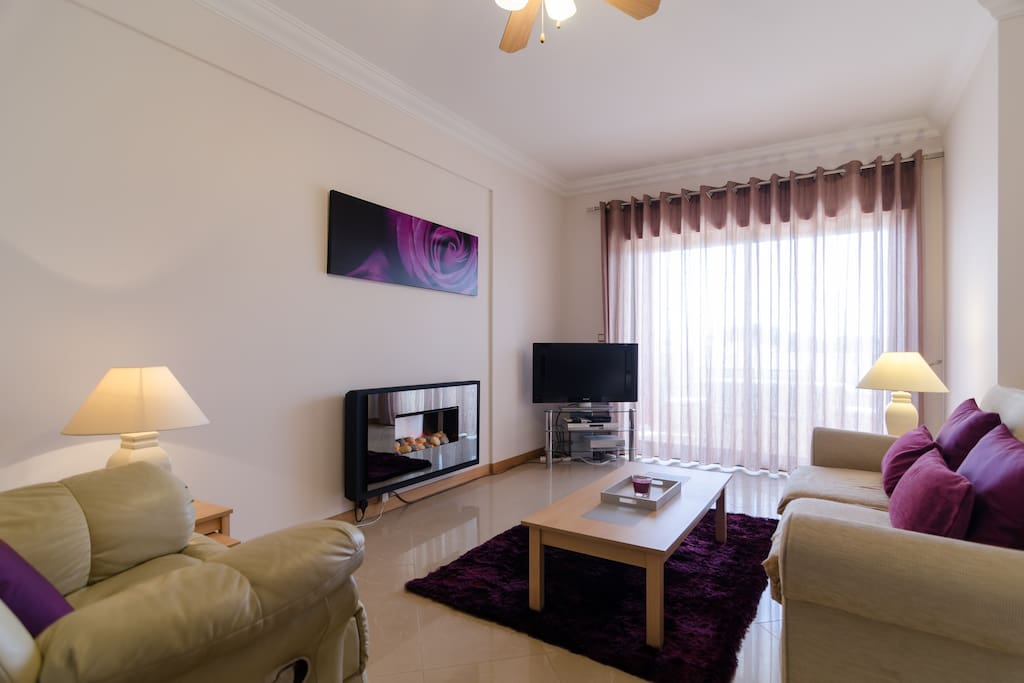 Gorgeous Comfy Lounge with electric fireplace and Sat TV