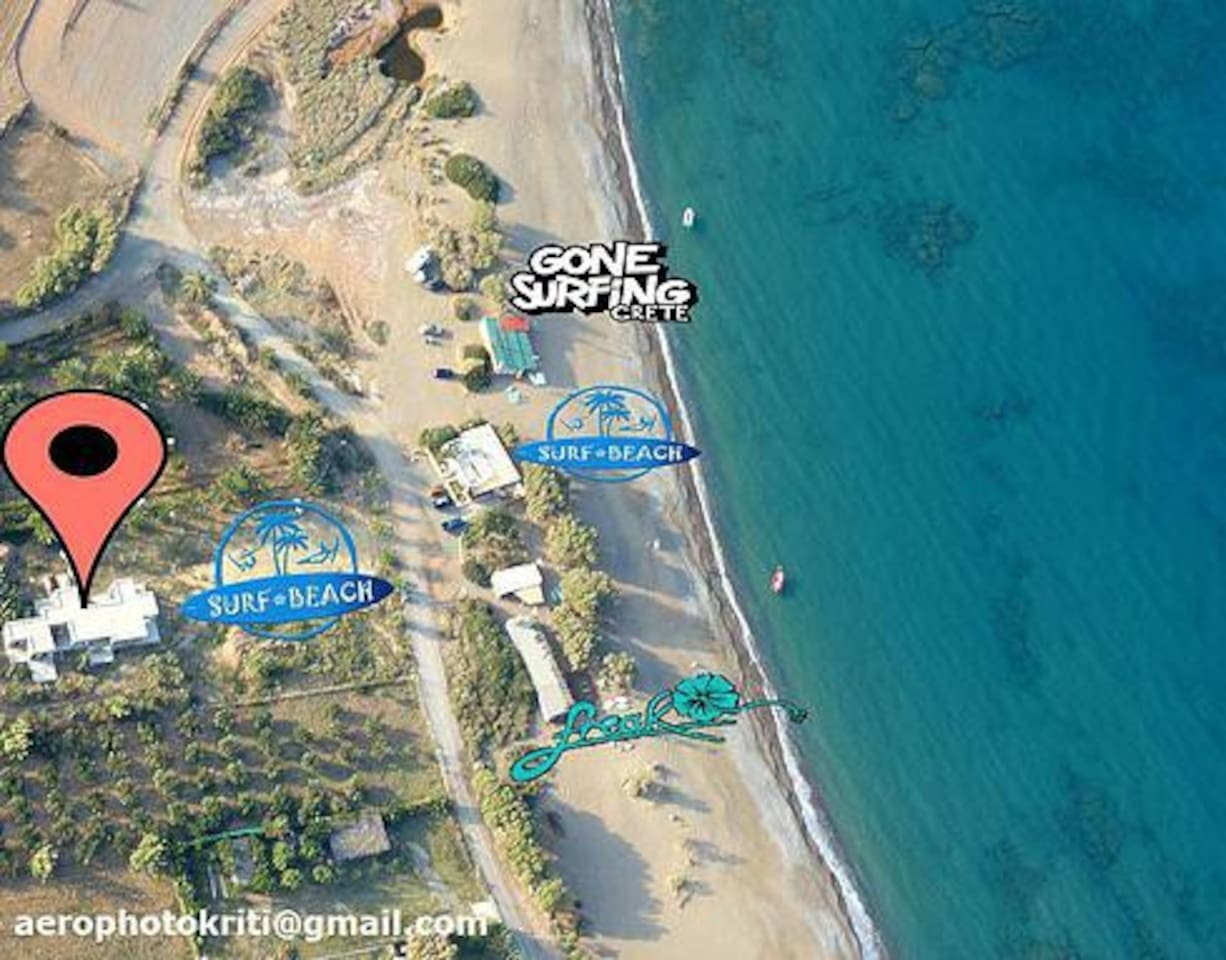 Surf Beach Apartments are just a few meters away from the sea, next to windsurfing clubs of Kouremenos beach