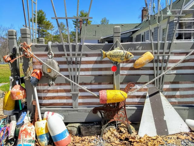 Your whimsical and nautical parking space!