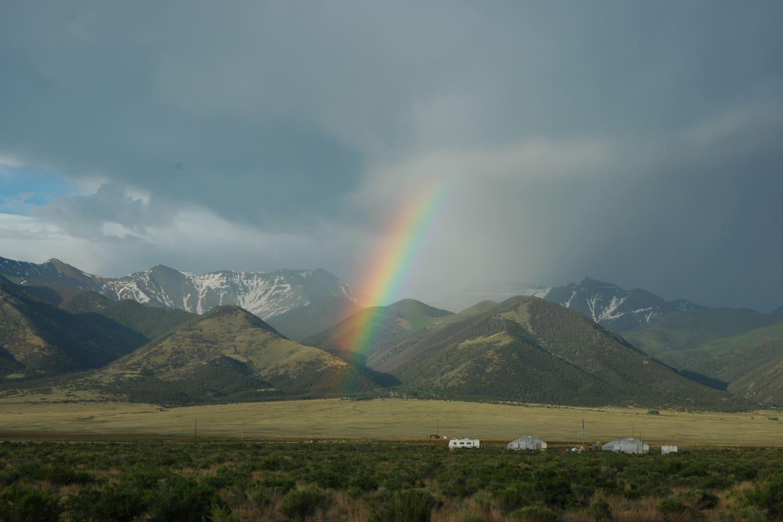 Summer Rainbow Over Sangre de Cristo