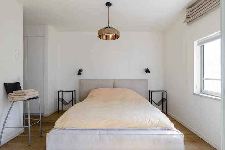 """""""The most comfortable bed in the world"""" is a recurring comment. Firm and supportive mattress coupled with the perfect pillows and down filled blanket on hard wood floors."""