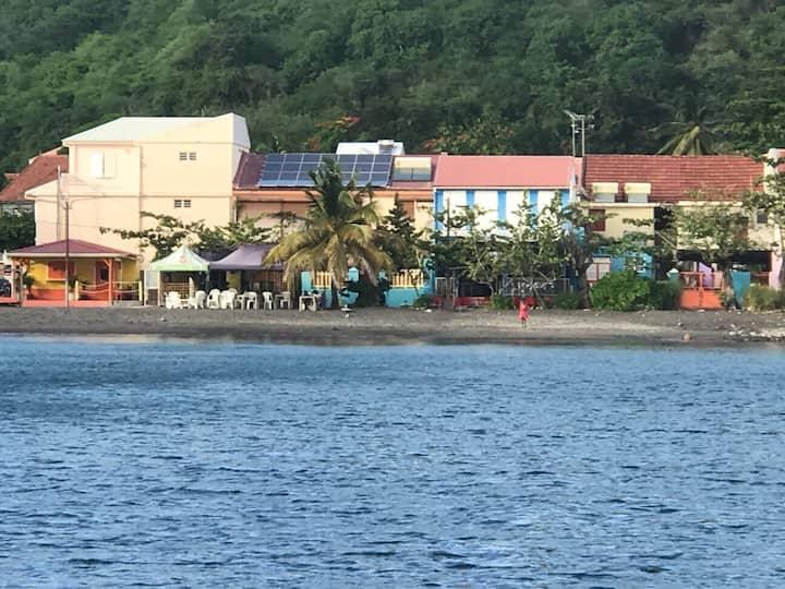Agréable studio avec vue sur la Mer des Caraïbes