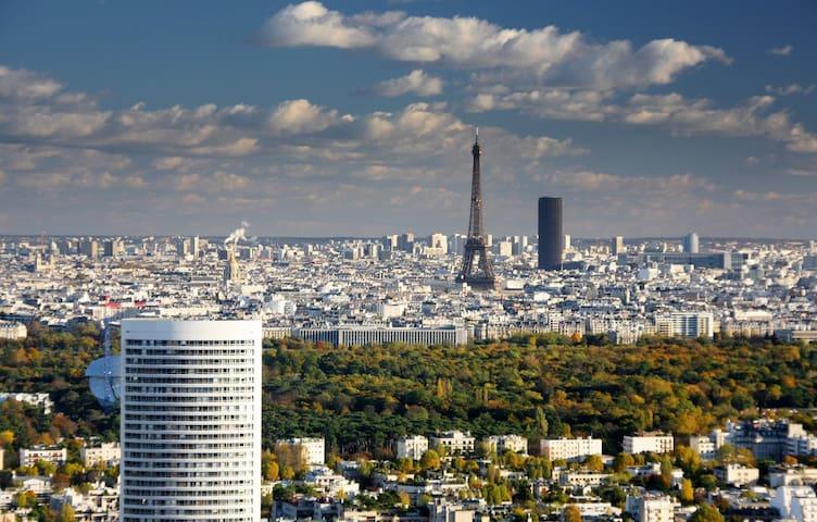 Panoramic apartment above Paris - Puteaux - Apartment