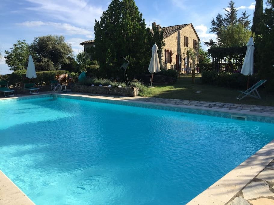 The large, panoramic pool