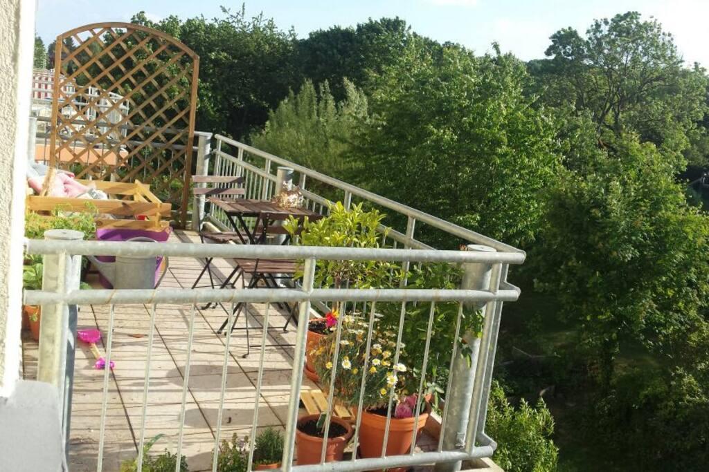 Balkon, Zugang vom Wohnzimmer