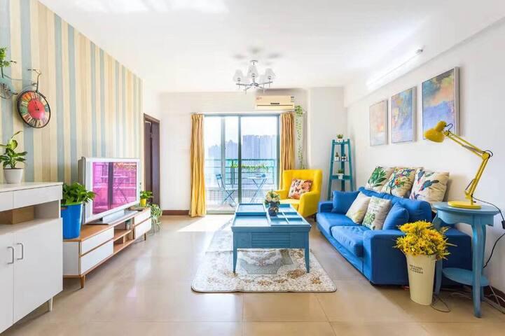 S&L六号公馆北欧套房,陈家祠地铁上盖,邻近上下九沙面&广交会,双阳台高层景观 - Guangzhou - Apartment