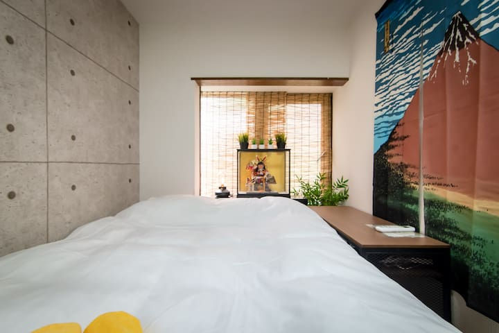 Shinjuku Simple Private Double Bed /Free Wi-Fi C