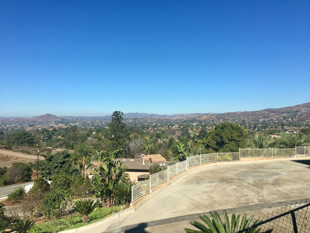 Sweeping view from patio