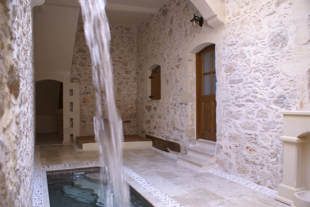 Heated spa pool on the ground floor of Villa Kamares