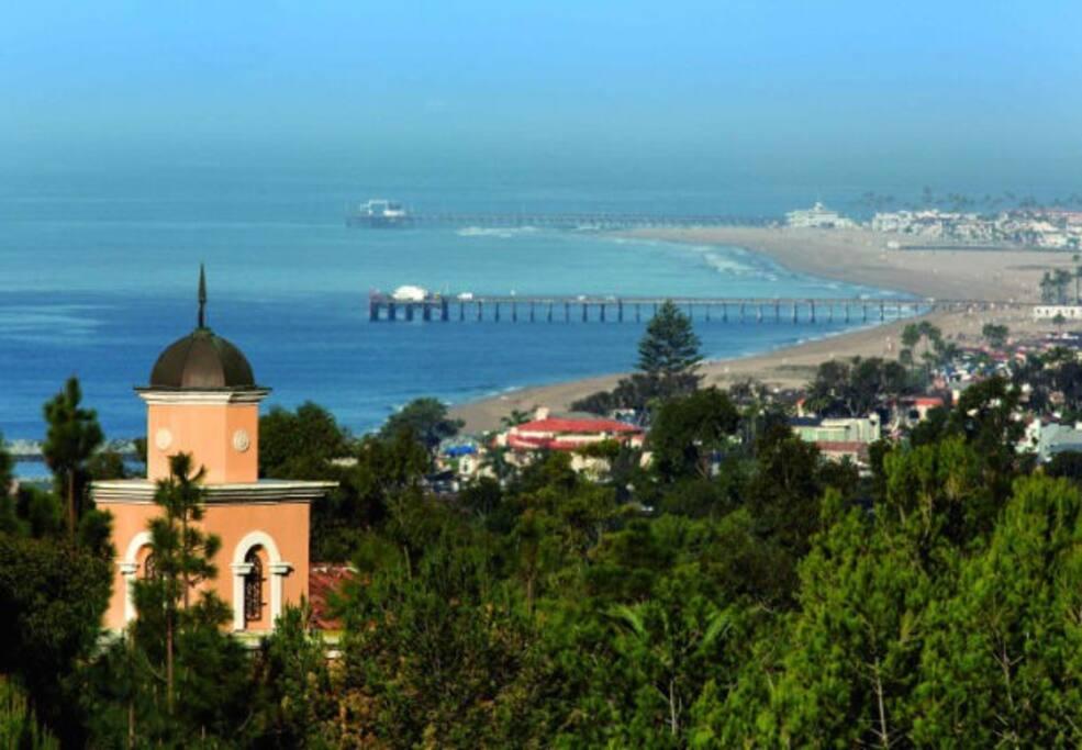 Ocean and New Port Beach