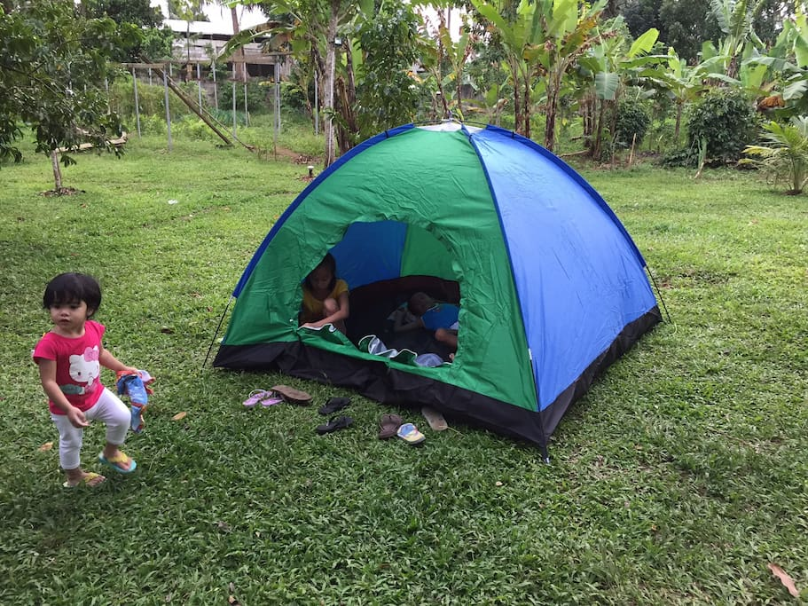 You can also bring your own tent, just like some of our guests.