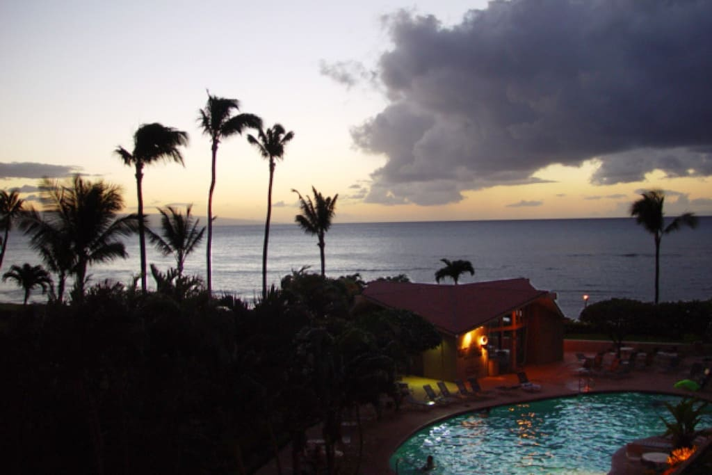 Beautiful Maui sunsets from the privacy of your lanai.