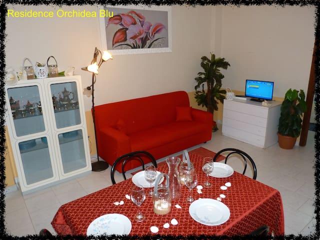 Orchidea Blu Residence/Appartamento Rosso - Capo Rizzuto - Daire