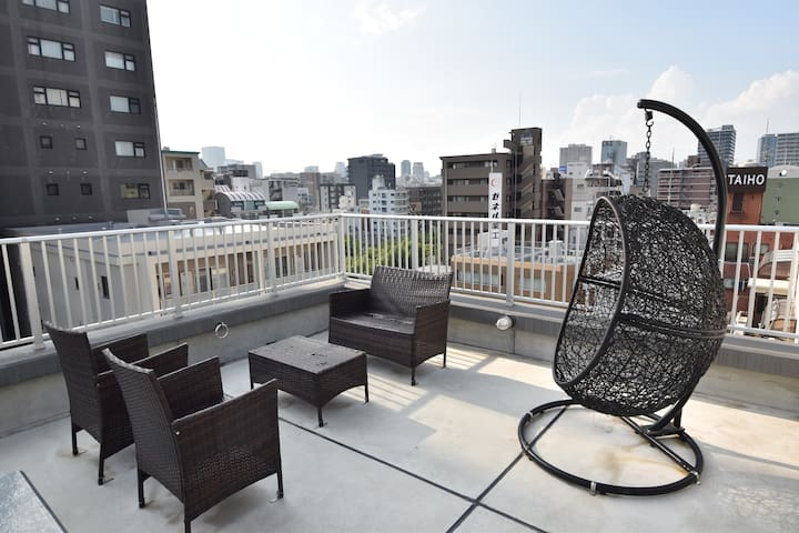 【New flat】 Near Osaka Castle,USJ, Shinsaibashi,