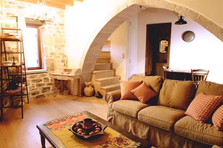 Kamara Stone house in a traditional Cretan village