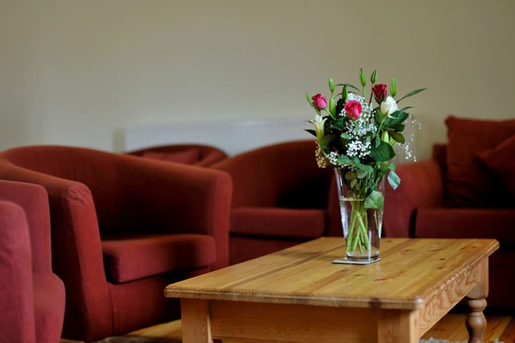 Ample comfy chairs to allow all of my guests to relax in comfort, enjoy some board games or just have a relaxing coffee or something a little stronger!.