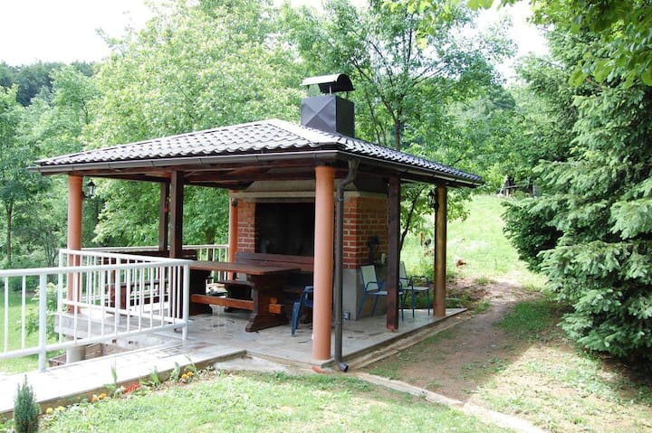 Two bedroom apartment with air-conditioning Smoljanac, Plitvice (A-14603-b)