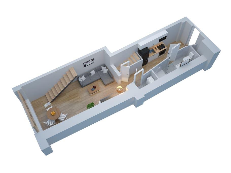 loft gare grenoble centre garage 2 chambres grenoble auvergne rh ne alpes france. Black Bedroom Furniture Sets. Home Design Ideas