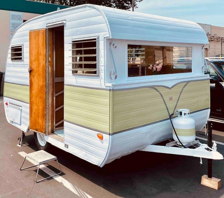 Vintage trailer tow away & take with on adventures