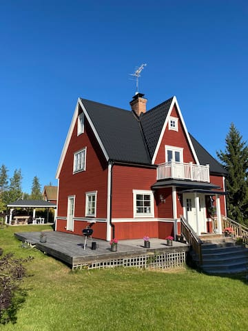 Spacious house near forests, skiing and fishing