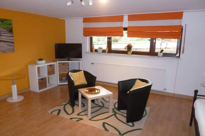 spacious studio apt. with large kitchen and bath