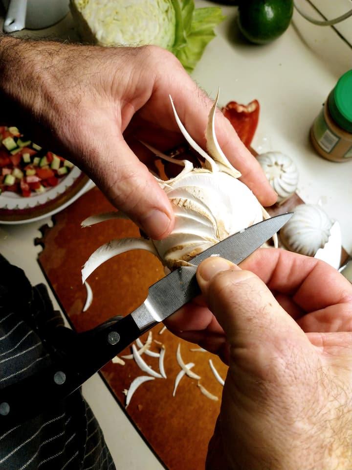 Carving mushroom