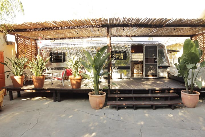 *Airstream with patio in Koreatown*